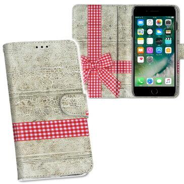 iPhone11 6.1インチ 専用 iphone 11 アイフォン softbank docomo au 両面プリント 裏表 内側 内面 スマホ カバー レザー ケース 手帳タイプ フリップ ダイアリー 二つ折り 革 フルデザイン 008651 ラブリー リボン 赤 レッド チェック