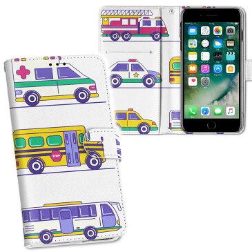 iphone7 iphone 7 softbank ソフトバンク 両面プリント 裏表 内側 内面 スマホ カバー レザー ケース 手帳タイプ フリップ ダイアリー 二つ折り 革 フルデザイン 013206 乗り物 救急車 パトカー