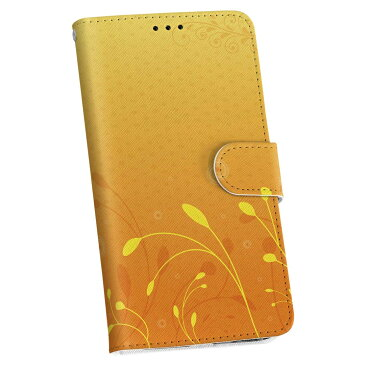 iphone8plus iphone 8 plus アイフォーン softbank ソフトバンク 手帳型 スマホ カバー レザー ケース 手帳タイプ フリップ ダイアリー 二つ折り 革 フラワー 花 フラワー オレンジ 001889