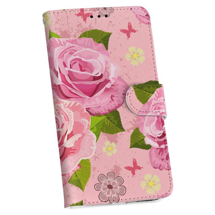 iphone5c アイフォーン docomo ドコモ カバー 全機種対応 あり カバー レザー ケース 手帳タイプ フリップ ダイアリー 二つ折り 革 フラワー 002708