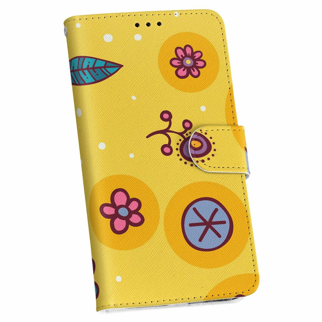 SC-02L Galaxy Feel2 ギャラクシー フィールツー docomo ドコモ sc02l 手帳型 スマホ カバー カバー レザー ケース 手帳タイプ フリップ ダイアリー 二つ折り 革 004240 花 イラスト ポップ