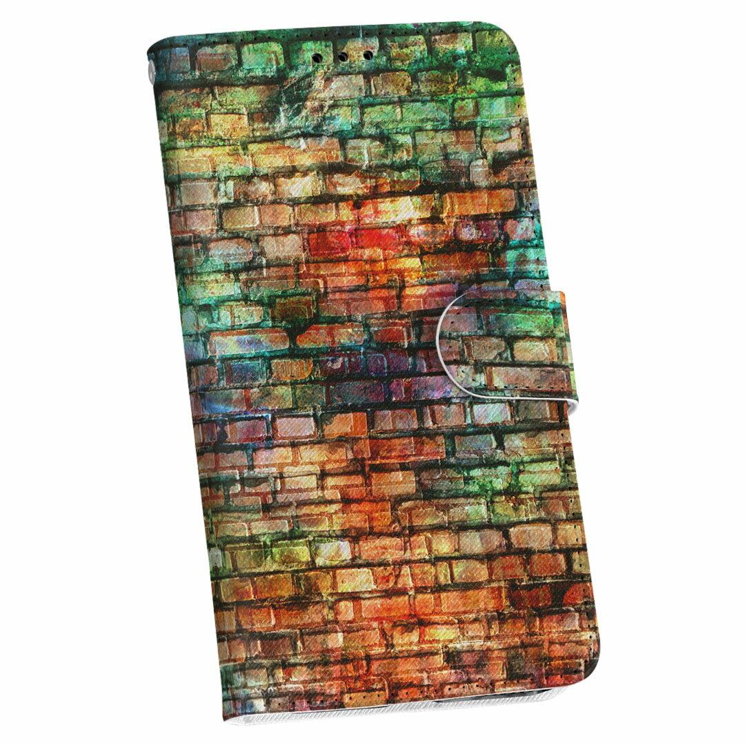 SC-03K Galaxy S9+ ギャラクシー エスナインプラス sc03k docomo ドコモ 手帳型 スマホ カバー レザー ケース 手帳タイプ フリップ ダイアリー 二つ折り 革 004568 レンガ シンプル