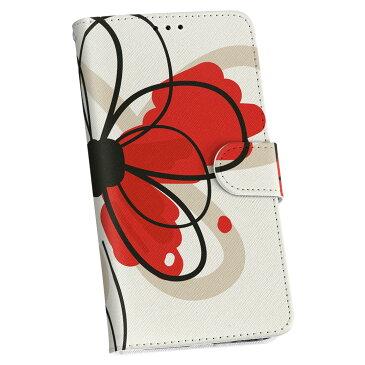 SC-02K Galaxy S9 ギャラクシー sc02k docomo ドコモ 手帳型 スマホ カバー 全機種対応 あり カバー レザー ケース 手帳タイプ フリップ ダイアリー 二つ折り 革 005043 花 赤 シンプル
