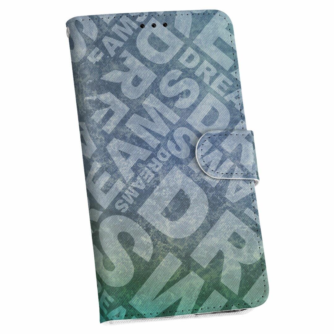 F-03F Disney Mobile ディズニーモバイル f03f docomo ドコモ 手帳型 スマホ カバー カバー レザー ケース 手帳タイプ フリップ ダイアリー 二つ折り 革 007684 英語 文字 天使 ブルー 青