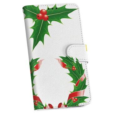 509SH シンプルスマホ3 softbank ソフトバンク 手帳型 スマホ カバー 全機種対応 あり カバー レザー ケース 手帳タイプ フリップ ダイアリー 二つ折り 革 クリスマス リース リボン 009935