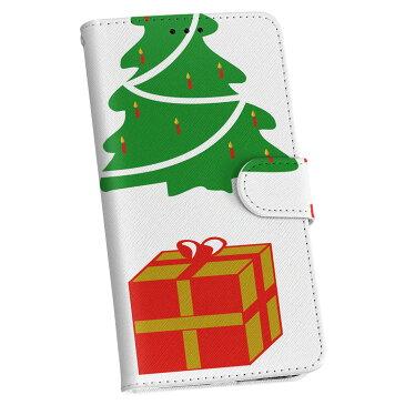 SHL24 AQUOS PHONE SERIE mini アクオスフォン au エーユー カバー 手帳型 全機種対応 あり カバー レザー ケース 手帳タイプ フリップ ダイアリー 二つ折り 革 クリスマス ツリー サンタ 009988
