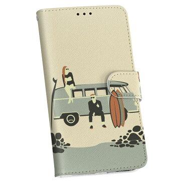 iPhone12 mini 5.4インチ 専用 ケース 手帳型ケース アイフォン12 mini 用カバー igcase 各キャリア対応 スマコレ 010774 海 車 サーフィン