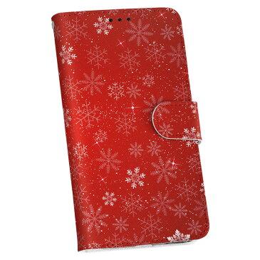 HTV32 HTC 10 au HTC エイチティーシー htv32 au エーユー 手帳型 スマホ カバー レザー ケース 手帳タイプ フリップ ダイアリー 二つ折り 革 雪 結晶 赤 012671