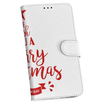 SHV41 AQUOS R Compact au エーユー スマホ カバー 手帳型 全機種対応 あり カバー レザー ケース 手帳タイプ フリップ ダイアリー 二つ折り 革 クリスマス ツリー 英語 013858