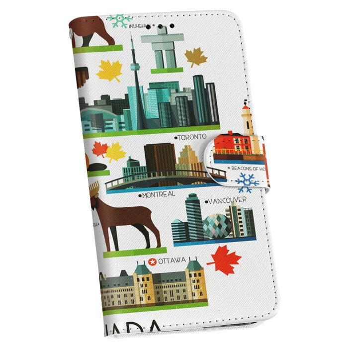 SC-03K Galaxy S9+ ギャラクシー エスナインプラス sc03k docomo ドコモ 手帳型 スマホ カバー レザー ケース 手帳タイプ フリップ ダイアリー 二つ折り 革 014133 カナダ 風景 景色