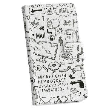 KYV40 rafre au エーユー 手帳型 スマホ カバー 全機種対応 あり カバー レザー ケース 手帳タイプ フリップ ダイアリー 二つ折り 革 014326 メール 手紙 英語