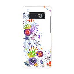 SC-01K Galaxy Note8 ギャラクシー ノートエイト sc01k docomo ドコモ スマホ カバー ケース スマホケース スマホカバー PC ハードケース 花 海 イラスト フラワー 004524