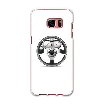 SC-02H Galaxy S7 edge ギャラクシー sc02h docomo ドコモ スマホ カバー ケース スマホケース スマホカバー PC ハードケース 車 ハンドル イラスト スポーツ 002757