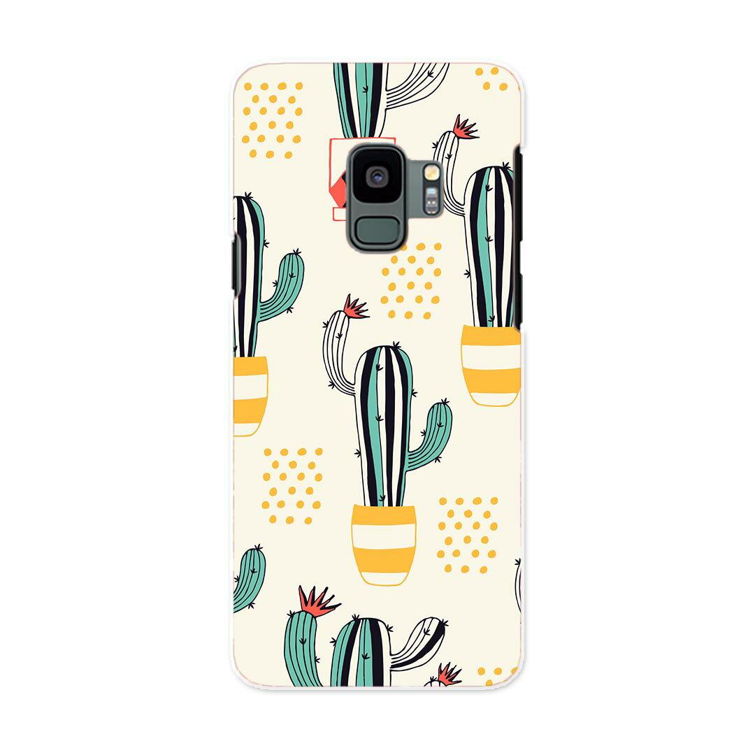 SCV38 Galaxy S9 ギャラクシー エスナイン au エーユー スマホ カバー ケース スマホケース スマホカバー PC ハードケース 016412 サボテン 植物