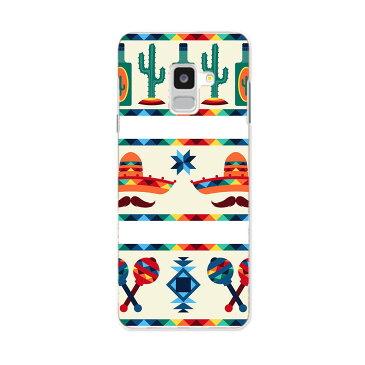 SC-02L Galaxy Feel2 ギャラクシー フィールツー docomo ドコモ sc02l スマホ カバー スマホケース スマホカバー PC ハードケース 010638 カラフル サボテン ネイティブ柄