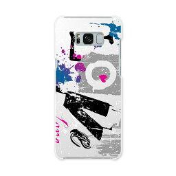 SCV35 Galaxy S8+ ギャラクシー エス エイト プラス au エーユー スマホ カバー ハード pc ケース ハードケース ラブ  ラブリー 001536