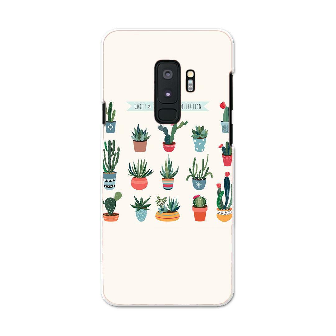 SC-03K Galaxy S9+ ギャラクシー エスナインプラス docomo sc03k ドコモ スマホ カバー ケース スマホケース スマホカバー PC ハードケース 016374 サボテン 植物