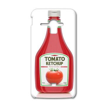 SHL22 AQUOS PHONE SERIE アクオスフォン セリエ au エーユー スマホ カバー 全機種対応 あり スマホケース ハード pc ケース ハードケース ケチャップ トマト 食べ物 ユニーク 000298