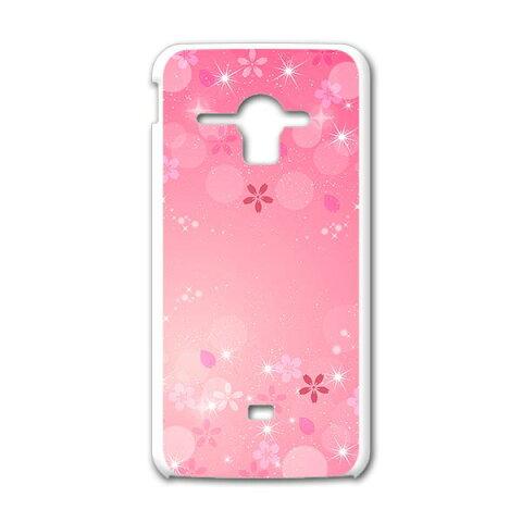 SHL22 AQUOS PHONE SERIE アクオスフォン セリエ au エーユー スマホ カバー スマホケース ハード pc ケース ハードケース 桜 花 ラブリー 001625