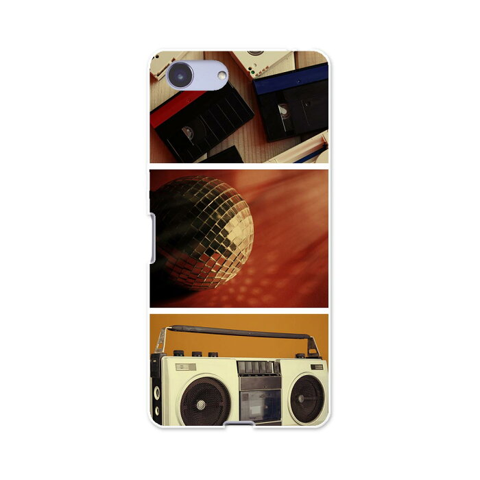 SO-02L Xperia Ace エクスペリア エース so02l docomo ドコモ スマホ カバー ケース スマホケース スマホカバー TPU ソフトケース 010840 ラジカセ カセット 音楽