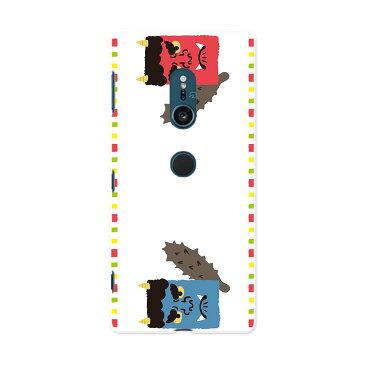 SOV37 Xperia XZ2 エクスペリア エックスゼットツー au エーユー スマホ カバー スマホケース スマホカバー PC ハードケース 012874 節分 鬼 イラスト