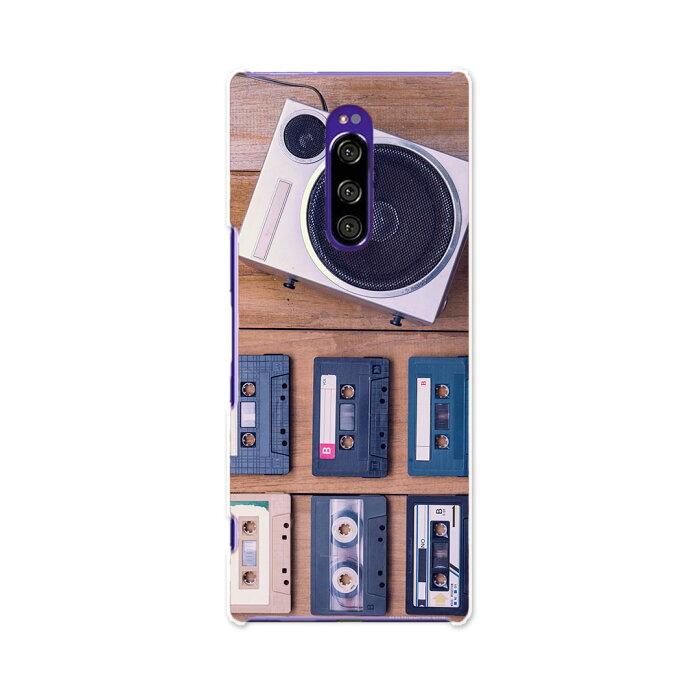SO-03L Xperia 1 エクスペリア ワン docomo ドコモ so03l ケース スマホケース スマホカバー PC ハードケース 012922 ラジカセ 音楽 カセット