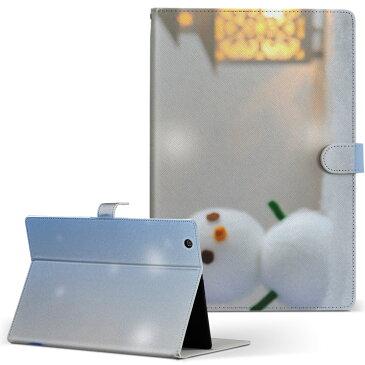 iPad Air 2 Apple アップル iPad アイパッド ipadair2 Lサイズ 手帳型 タブレットケース カバー 全機種対応有り レザー フリップ ダイアリー 二つ折り 革 その他 ユニーク 雪だるま クリスマス 冬 000846