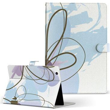 m-Tab MouseComputer マウスコンピューター ラヴパッド mtabice1000wn Lサイズ 手帳型 タブレットケース カバー レザー フリップ ダイアリー 二つ折り 革 フラワー 花 植物 001307
