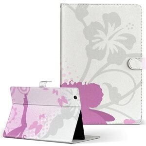 Lenovo Tab4 10 レノボ タブ4 10インチ Lサイズ 手帳型 タブレットケース カバー レザー フリップ ダイアリー 二つ折り 革 001582 花 妖精 女の子