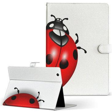 M703S JP KEIAN 恵安 m703sjp Sサイズ 手帳型 タブレットケース カバー レザー フリップ ダイアリー 二つ折り 革 ユニーク てんとう虫 イラスト 002357