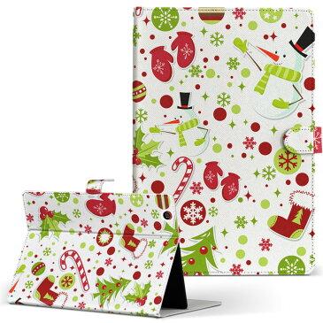 SO-03E Xperia Tablet Z エクスペリアタブレット so03e LLサイズ 手帳型 タブレットケース カバー 全機種対応有り レザー フリップ ダイアリー 二つ折り 革 フラワー ラグジュアリー クリスマス 冬 カラフル 003414