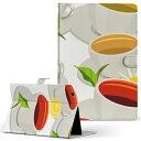 HP Tab Slate7 Sサイズ 手帳型 タブレットケース カバー レザー フリップ ダイアリー 二つ折り 革 イラスト 飲み物 ラブリー 003857
