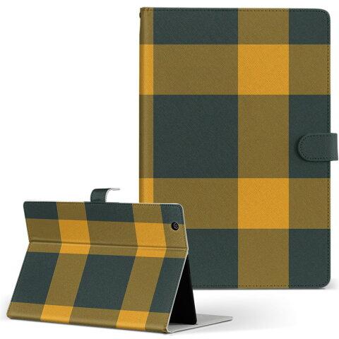 Kindle Fire Amazon キンドルファイア fire Mサイズ 手帳型 タブレットケース カバー レザー フリップ ダイアリー 二つ折り 革 チェック・ボーダー その他 チェック 模様 黄色 004413