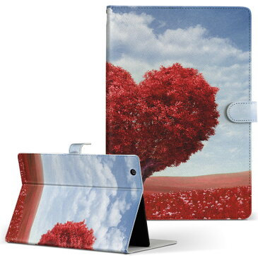 Fire HDX 8.9 Amazon アマゾン Kindle Fire キンドルファイア firehdx89 Lサイズ 手帳型 タブレットケース カバー レザー フリップ ダイアリー 二つ折り 革 写真・風景 ラブリー 写真 ハート 植物 006009