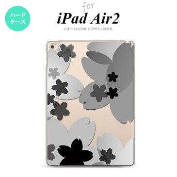 【iPad Air 2】【スマホケース/スマホカバー】【アイパッド エアー 2】iPad Air 2 ケース カバー アイパッド エアー 2 花柄・サクラ 黒 nk-ipadair2-051【メール便で送料無料】