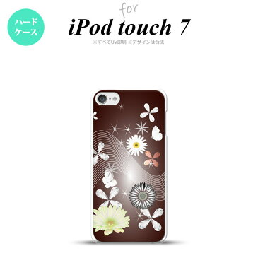 iPod touch 第7世代 ケース 第6世代 ハードケース 花柄 ミックス B 茶 nk-ipod7-276