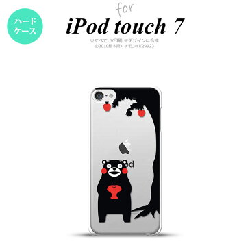 iPod touch 第7世代 ケース 第6世代 ハードケース くまモン リンゴ 黒 nk-ipod7-km01