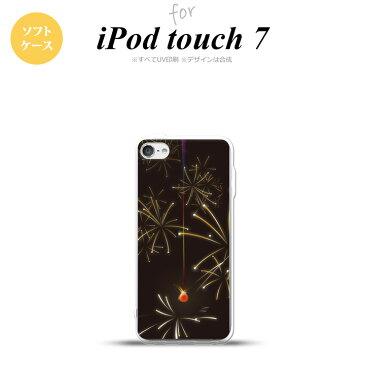 iPod touch 第7世代 ケース 第6世代 ソフトケース 花火 線香花火 黒 nk-ipod7-tp321