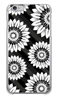 【送料無料】 フラワーストライプ ブラック (クリア) / for iPhone 6 Plus/Apple 【YESNO】【ハードケース】アップル iphone6 plus iphone6 plus ケース iphone6 plus カバー アイフォーン6プラス ケース アイフォーン6プラス カバー iphone 6 plus case