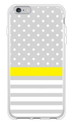 【送料無料】 ドット/ボーダー グレー (ソフトTPUクリア) / for iPhone 6 Plus/Apple 【SECOND SKIN】【ソフトケース】アップル iphone6 plus iphone6 plus ケース iphone6 plus カバー アイフォーン6プラス ケース アイフォーン6プラス カバー iphone 6 plus case