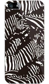 【送料無料】Zebracamoブラック(ソフトTPUクリア)designbyROTM/foriPhone5s/docomo【SECONDSKIN】【セカンドスキン】【平面】【受注生産】【スマホケース】【ソフトケース】【3150円以上で送料無料】