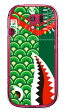 【送料無料】 シャーク 鯉のぼり グリーン (クリア) / for らくらくスマートフォン3 F-06F/docomo 【YESNO】【ハードケース】ドコモ らくらくスマートフォン3 ケース らくらくスマートフォン3 カバーf-06f ケース f-06f カバー 花 和柄 かわいい 迷彩 かっこいい 激安