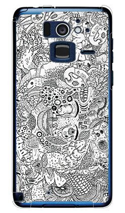 【送料無料】 混沌 (クリア) design by 326 / for Disney Mobile on docomo F-07E/docomo 【SECOND SKIN】【スマホケース】【ハードケース】f-07e カバー f-07e ケース f-07e カバー ディズニー f-07e ケース ディズニー ディズニー スマホケース