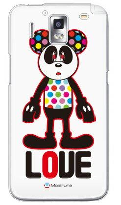 【送料無料】 Love Panda (クリア) design by Moisture / for Ascend HW-01E/docomo 【SECOND SKIN】【ハードケース】hw-01e ケース hw-01e カバー ascend hw-01e ascend hw-01e ケース ascend hw-01e カバー スマホケース スマホカバー huawei