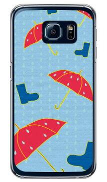 【送料無料】 アンブレラ レッド (クリア) / for Galaxy S6 SC-05G/docomo 【Coverfull】sc-05g ケース sc-05g カバー sc-05gケース sc-05g カバー galaxy s6 ケース galaxy s6 カバー ギャラクシーs6 ケース ギャラクシーs6 カバー ドコモ