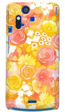 【送料無料】 uistore 「Rose&Flower (orange)」 / for Xperia acro SO-02C/docomo 【SECOND SKIN】【ハードケース】xperia acro ケース カバー エクスペリア アクロ エクスぺリア Case Cover スマートフォンケース スマホケース