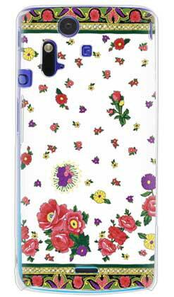 【送料無料】 SINDEE 「Russian Flower (ホワイト)」 (クリア) / for Xperia acro SO-02C/docomo 【SECOND SKIN】【ハードケース】xperia acro ケース カバー エクスペリア アクロ エクスぺリア Case Cover スマートフォンケース スマホケース