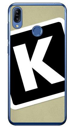 【送料無料】 Cf LTD キャンプ イニシャル ベージュ×ブラック K (クリア) / for ZenFone Max M2 ZB633KL/MVNOスマホ(SIMフリー端末) 【Coverfull】zenfone max m2 ケース zenfone max m2 カバー zb633kl ケース zb633kl カバー ゼンフォンマックスM2 ケース