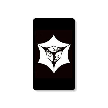 【送料無料】 家紋シリーズ モバイルバッテリー 頭合わせ三つ雁金 (かしらあわせみつかりがね) 【Coverfull】 10000mAh microUSBケーブル付き 充電器 iPhone アイフォン Android アンドロイド