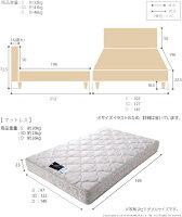 ライト・棚付きベッド〔クレイグ〕レッグタイプシングルデュラテクノスプリングマットレスセット